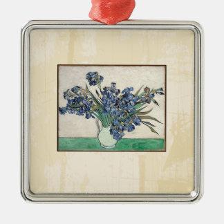 Fine Art Van Gogh Irises Metal Ornament