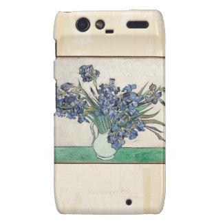 Fine Art Van Gogh Irises Motorola Droid RAZR Cases