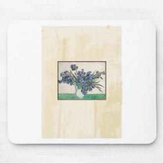 Fine Art Van Gogh Irises Mouse Pad