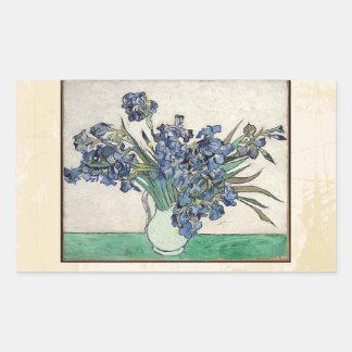 Fine Art Van Gogh Irises Rectangular Sticker