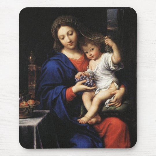 Fine Art Virgin Mary and Jesus Mouse Pad