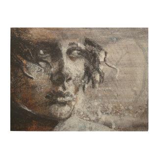 Fine art warm sepia colours or sensitive face