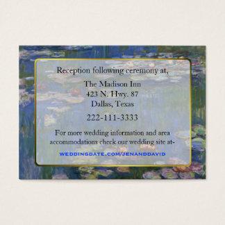 Fine Art Water Lilies Wedding enclosure cards