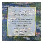 Fine Art Water Lilies Wedding Invitation