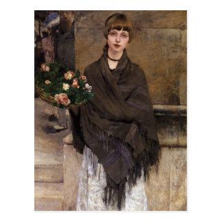 Fine Art Woman Postcard