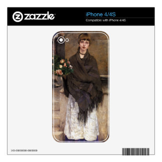 Fine Art Woman Skin For The iPhone 4