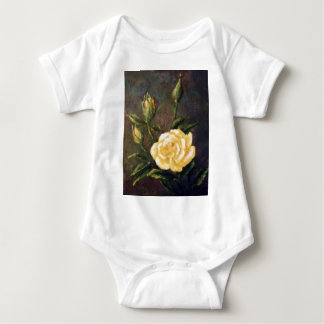 Fine Art Yellow Rose and Buds Still Life Baby Bodysuit