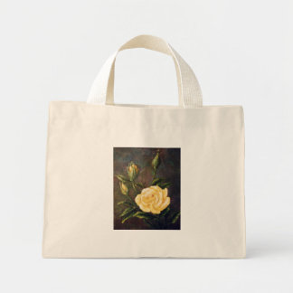 Fine Art Yellow Rose and Buds Still Life Mini Tote Bag