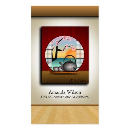 Art Gallery Curator, Fine Art Painter or Illustrator Business Cards