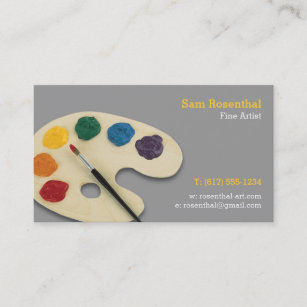 Fine artist business cards zazzle fine artist professional business card colourmoves