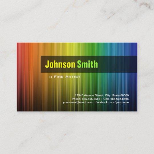 Fine artist stylish rainbow colors business card zazzle fine artist stylish rainbow colors business card colourmoves