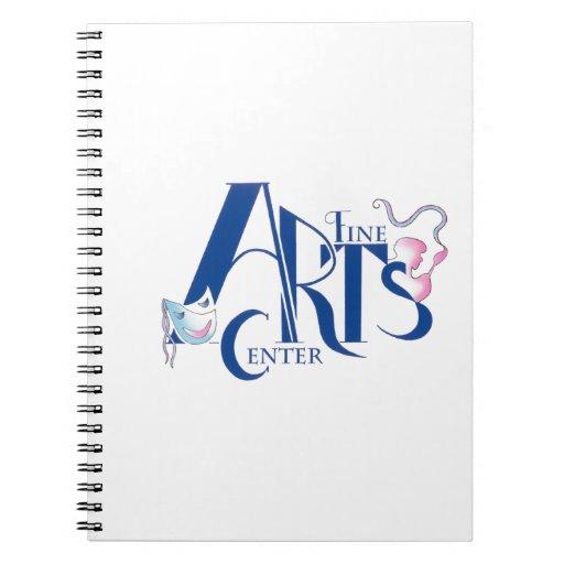 Fine Arts Center Logo Spiral Notebook