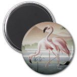 Fine At Pink Flamingo Magnet 2 Inch Round Magnet