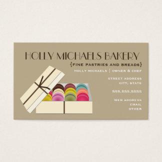 Fine Bakery Business Card - One Dozen Macarons