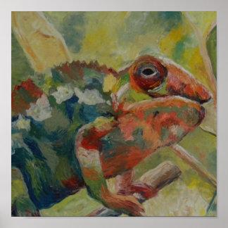 Fine Chameleon Art Poster