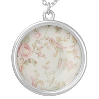 fine china floral necklace