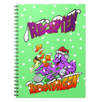 Fine Christmas days octopus cook recipes note book
