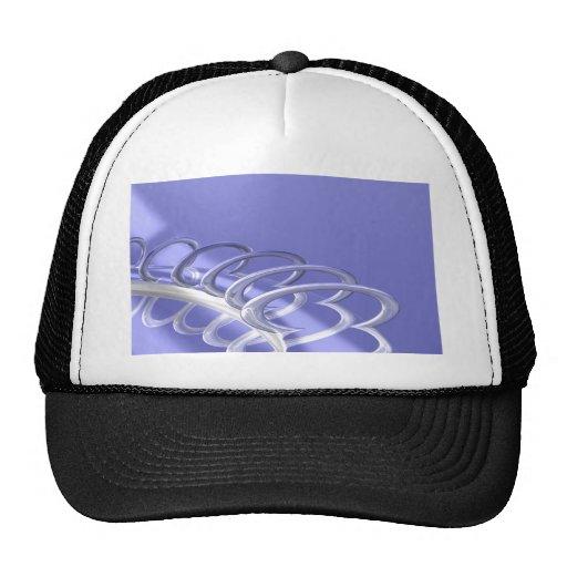 Fine chrome mesh hat