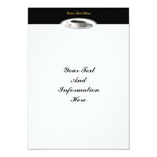"""Fine Coffee Invitation 5"""" X 7"""" Invitation Card"""