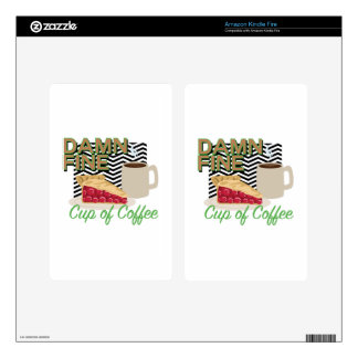 Fine Coffee & Pie Decal For Kindle Fire