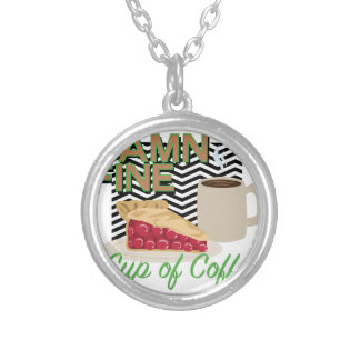 Fine Coffee & Pie Silver Plated Necklace