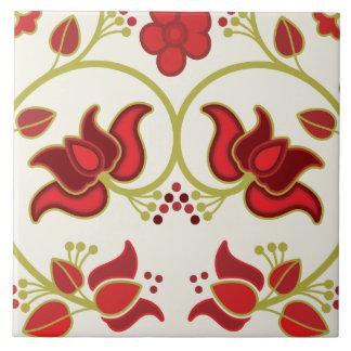 Fine Cool Cute Girly Retro Floral Fashion Ceramic Tile