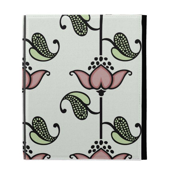 Fine Cool Cute Girly Retro Floral Fashion iPad Folio Cover