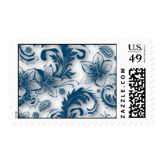 Fine Cool Cute Girly Retro Floral Fashion Stamp