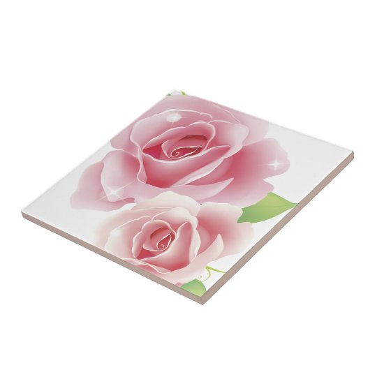 Fine Cool Flowers Cute Girly Retro Floral Ceramic Tile