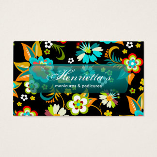 Fine Cute Cool Girly Retro Floral Fashion Business Card