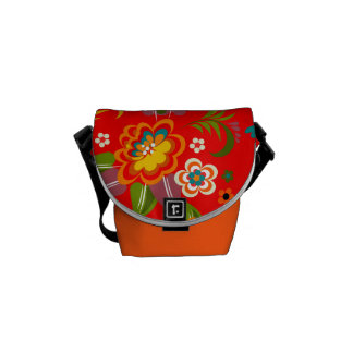 Fine Cute Cool Girly Retro Floral Fashion Courier Bag