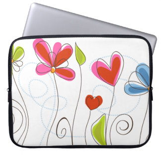 Fine Cute Cool Girly Retro Floral Fashion Laptop Computer Sleeve