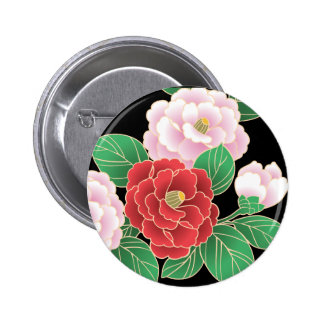 Fine Cute Cool Girly Retro Floral Fashion Pinback Button