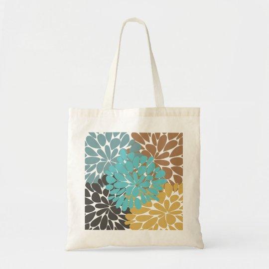 Fine Cute Cool Girly Retro Floral Fashion Tote Bag