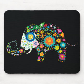 Fine Cute Flower Elephant Floral Fashion Mouse Pad