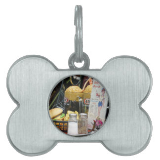 Fine Dining Pet Name Tag