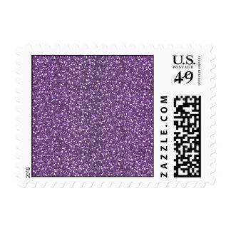 Fine Faux Glitter Shiny Sparkles Purple Violet Postage
