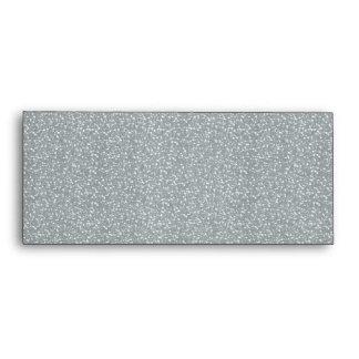 Fine Faux Glitter Shiny Sparkles Silver White Envelope