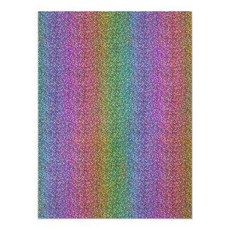 Fine Faux Glitter Sparkles Shiny Rainbow Custom Invite