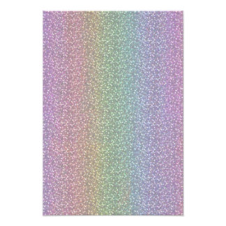Fine Faux Glitter Sparkles Shiny Rainbow Pearl Photo Print