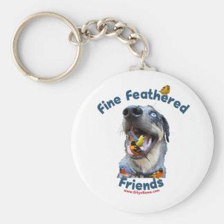 Fine Feathered Friends Bird Dog Basic Round Button Keychain