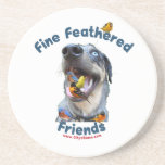 Fine Feathered Friends Bird Dog Beverage Coasters