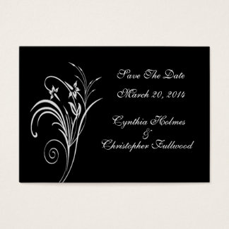 Fine Floral White Save The Date Cards