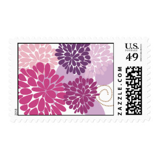 Fine Flower Cool Cute Girly Retro Floral Postage
