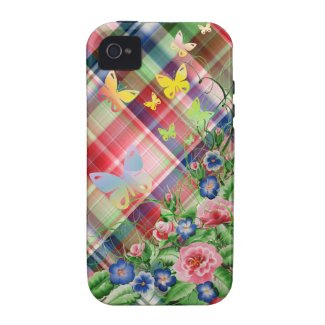 Fine flowers and Butterflies iPhone 4 Case