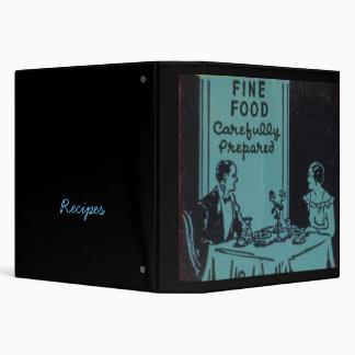fine foods 3 ring binder