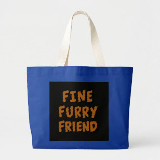 Fine furry friend canvas bag