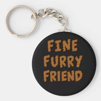 Fine furry friend key chain