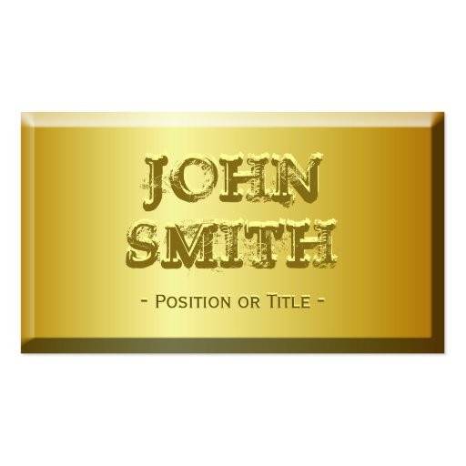 Fine Gold Brick Look with Custom Embossed Text Business Card