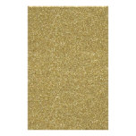 Fine Golden Glitter Background Texture Print Customized Stationery